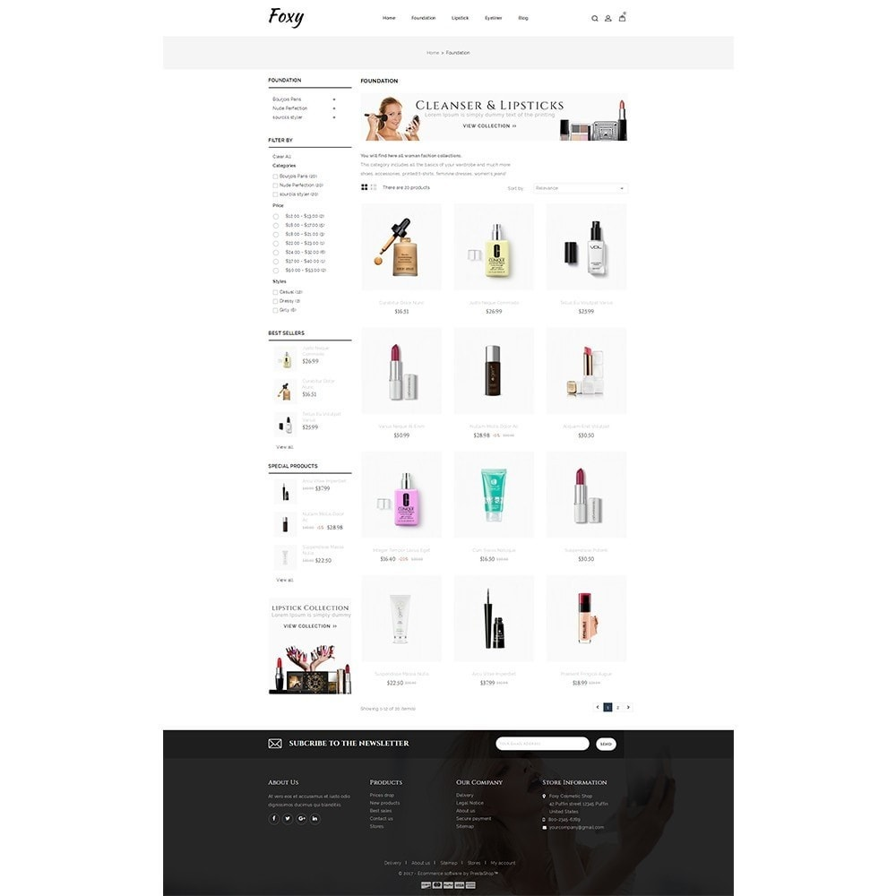 theme - Health & Beauty - Foxy Cosmetic Shop - 3