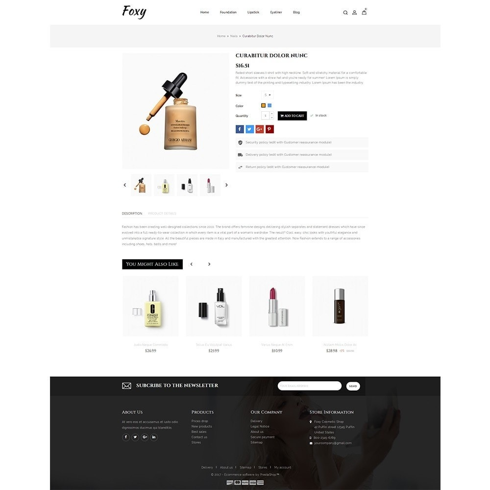 theme - Health & Beauty - Foxy Cosmetic Shop - 5