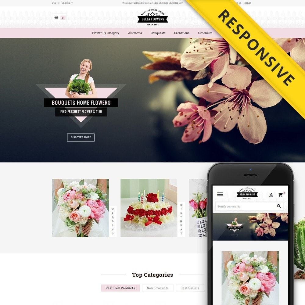 theme - Gifts, Flowers & Celebrations - Bella Flowers Store - 1