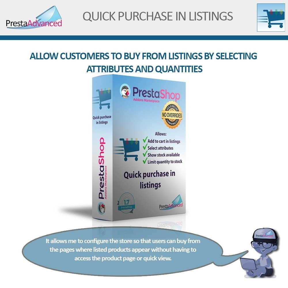 module - Express Checkout Process - Fast purchase from listings - 1