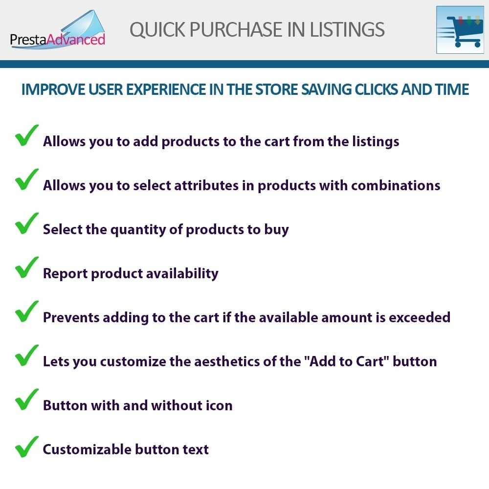 module - Express Checkout Process - Fast purchase from listings - 2