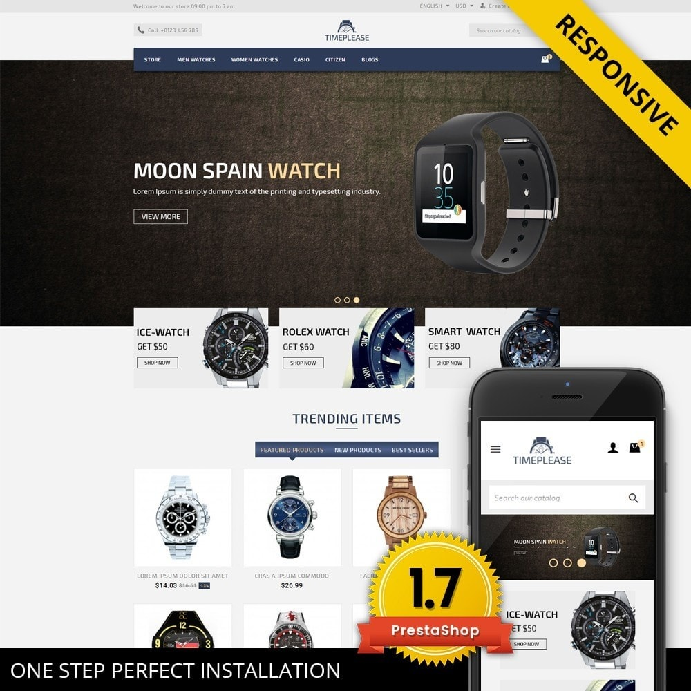 theme - Joyas y Accesorios - Timeplease - Watchstore Template - 1