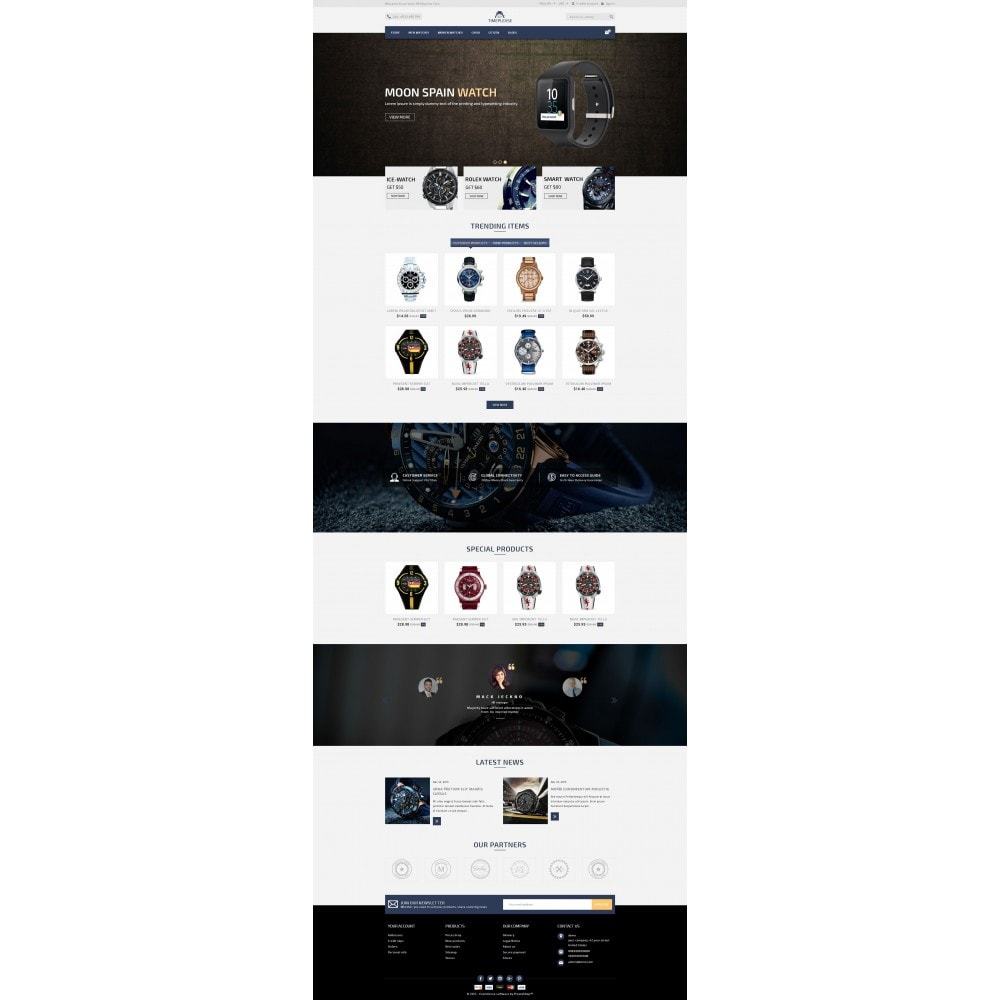 theme - Joyas y Accesorios - Timeplease - Watchstore Template - 2