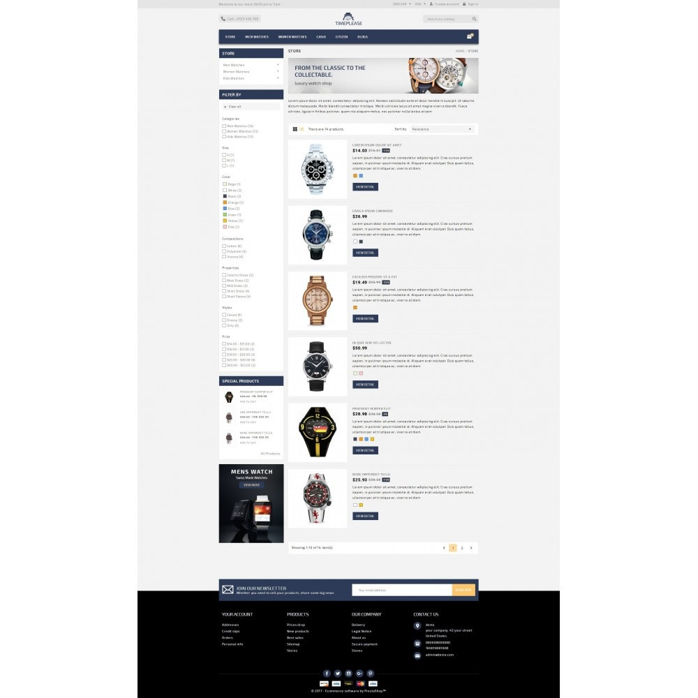 theme - Joyas y Accesorios - Timeplease - Watchstore Template - 4