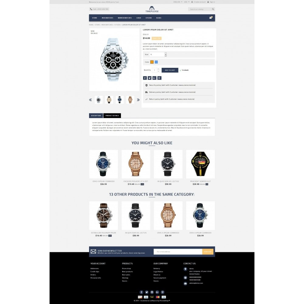 theme - Joyas y Accesorios - Timeplease - Watchstore Template - 5