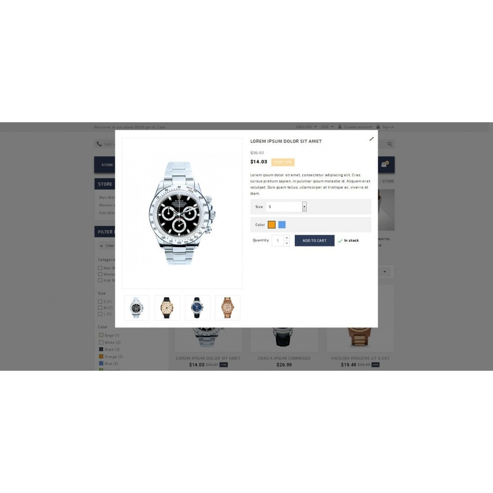 theme - Joyas y Accesorios - Timeplease - Watchstore Template - 7