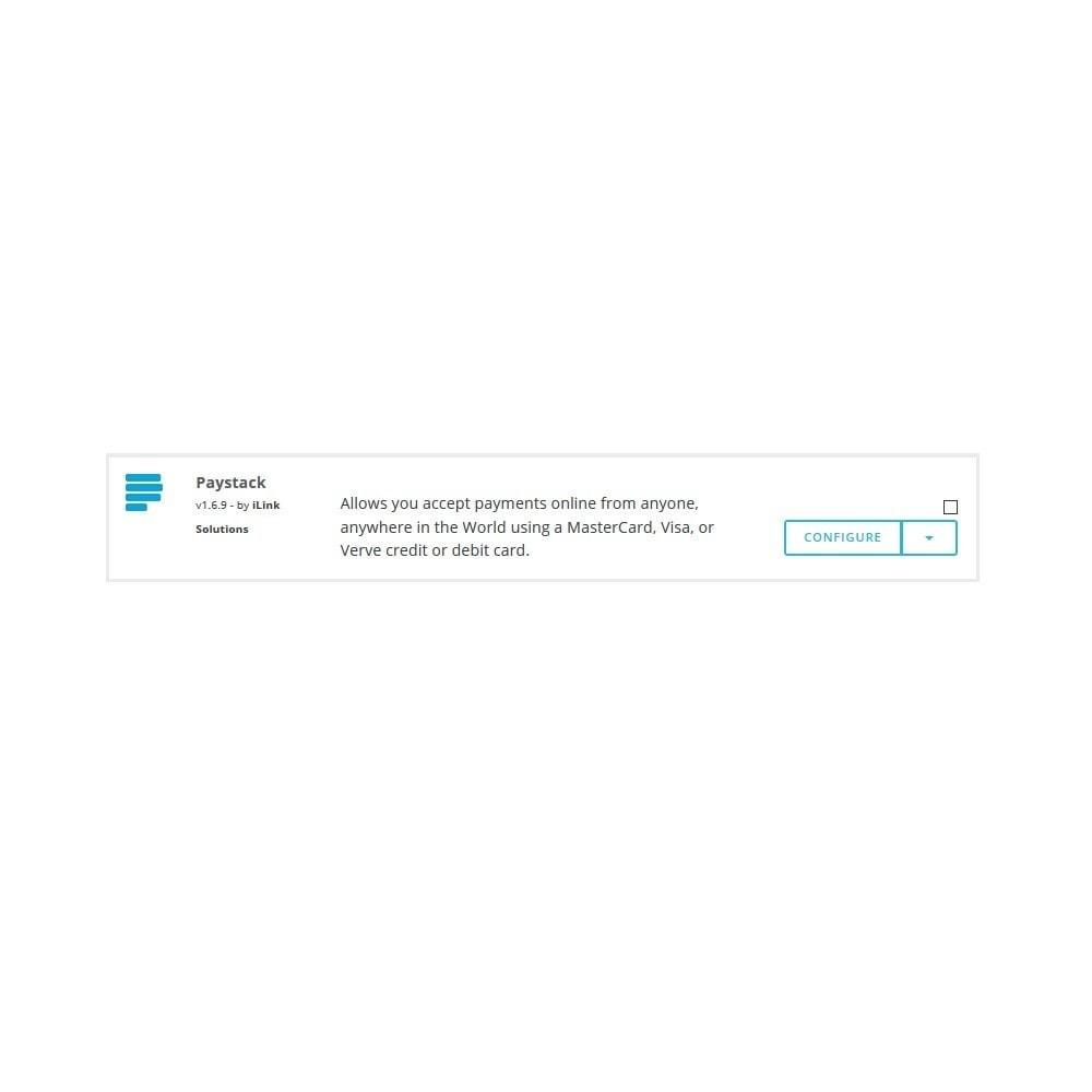 module - Paiement par Carte ou Wallet - Paystack - 1