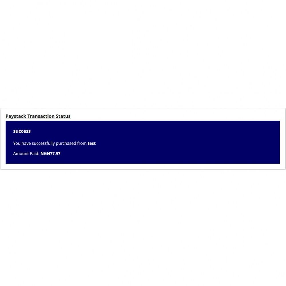 module - Paiement par Carte ou Wallet - Paystack - 5