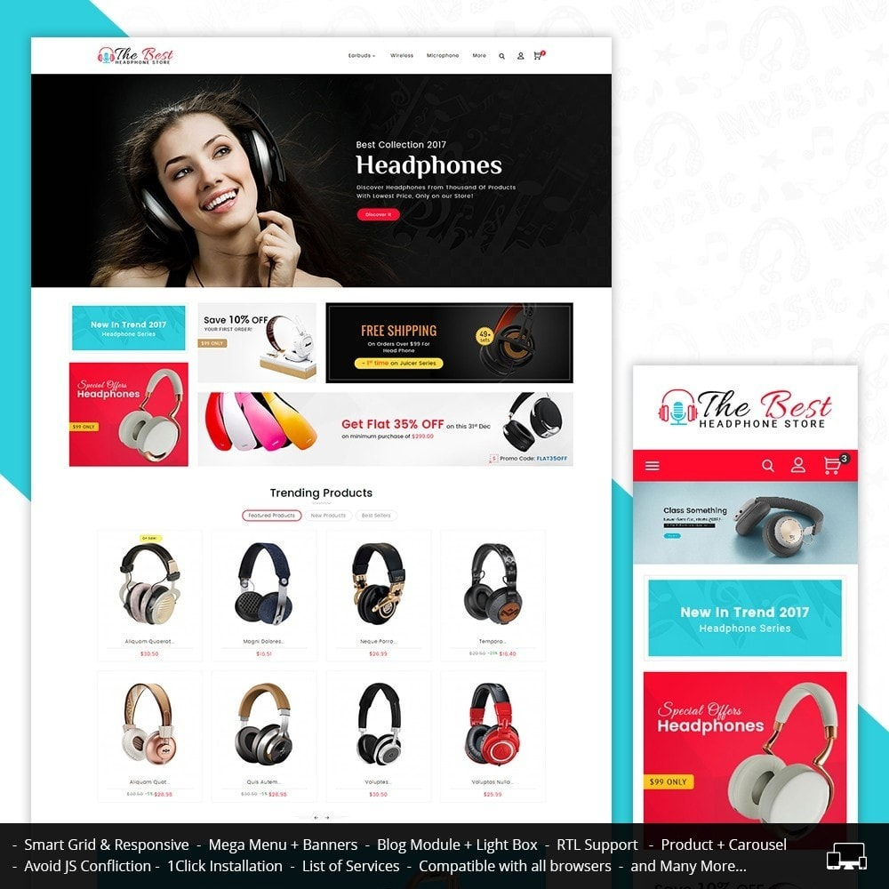 theme - Electronique & High Tech - Headphone Store - 1
