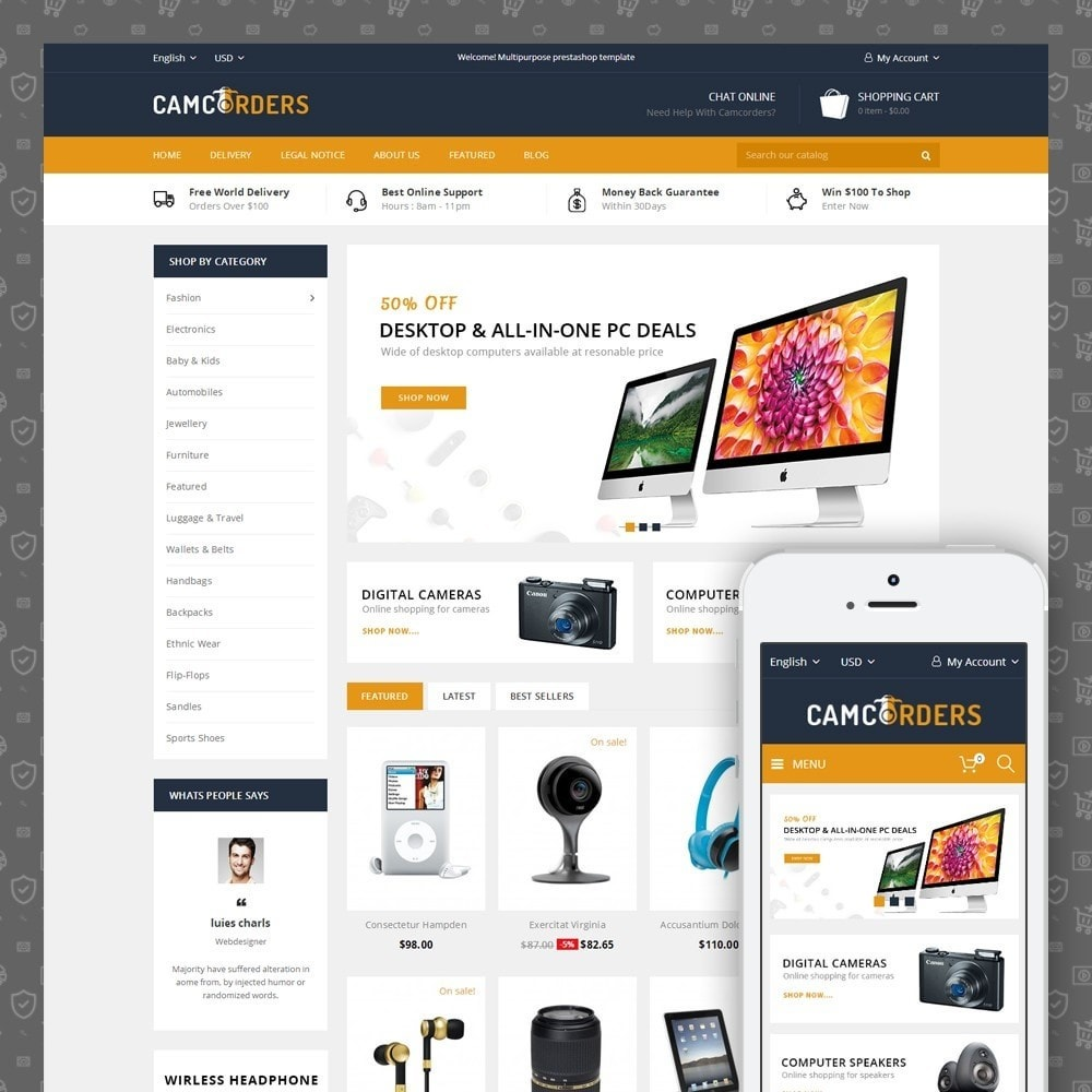 theme - Elektronik & High Tech - Camcorder - Electronics Store - 1