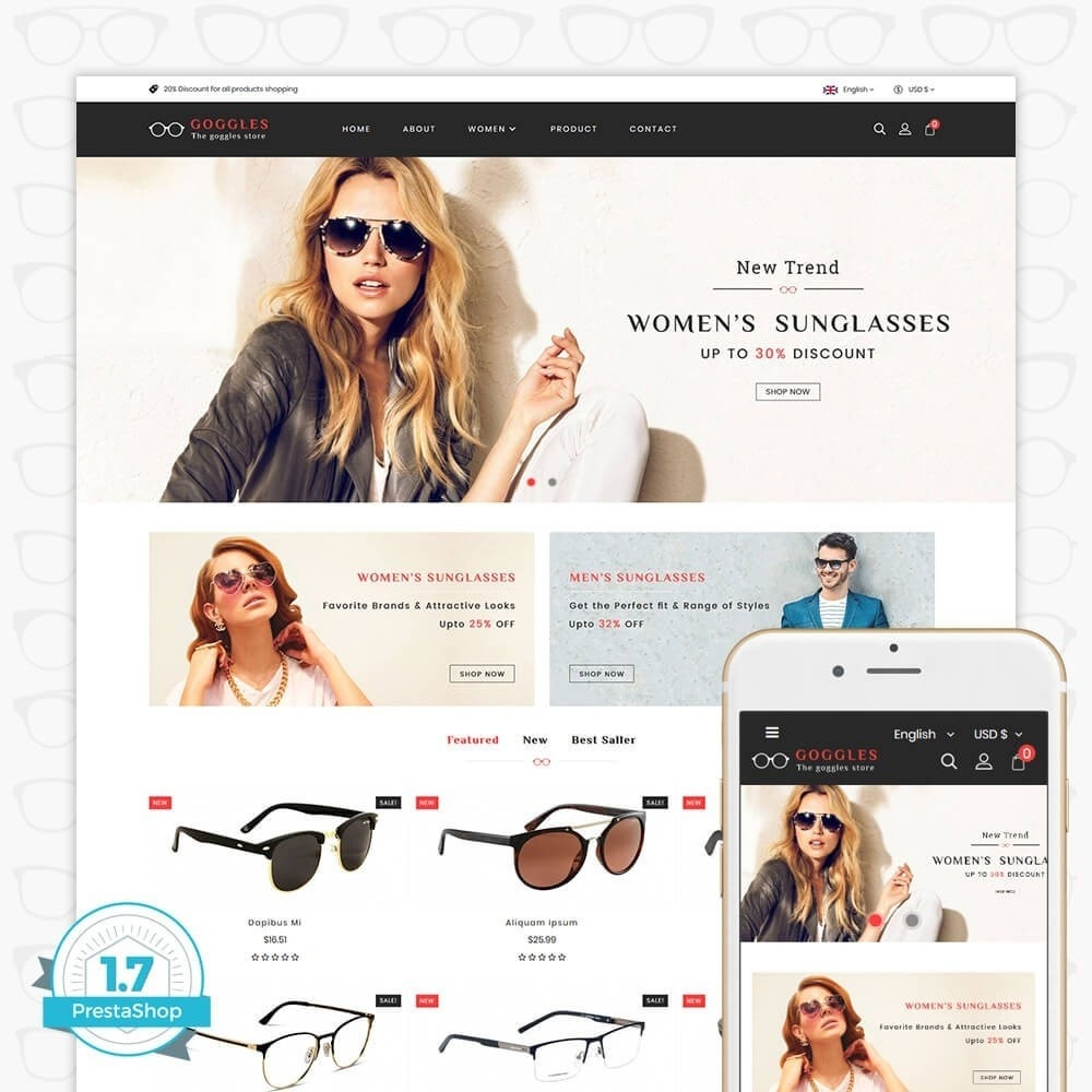 theme - Fashion & Shoes - Goggles - The Goggles Store - 1