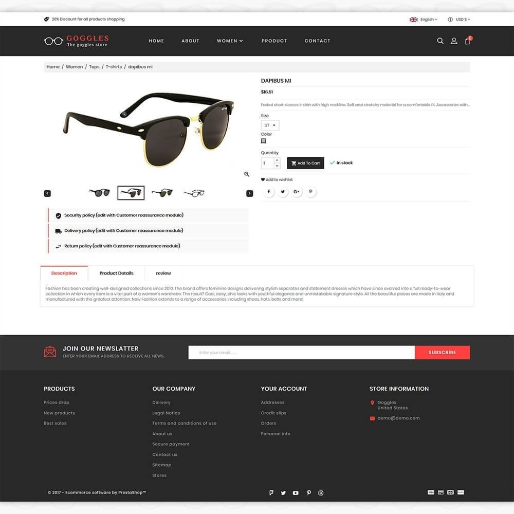 theme - Fashion & Shoes - Goggles - The Goggles Store - 5
