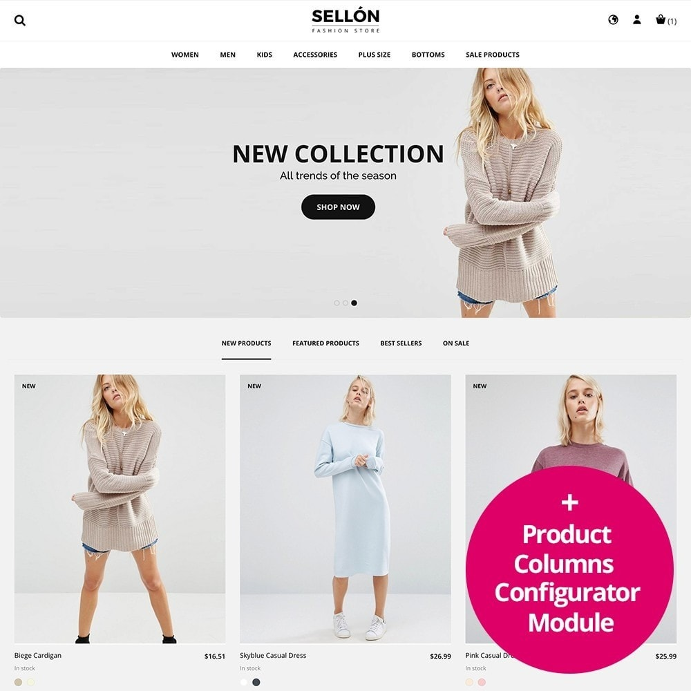 theme - Fashion & Shoes - SELLON - 1