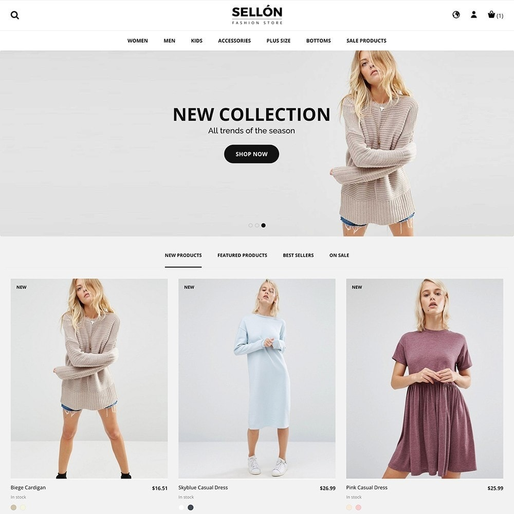 theme - Fashion & Shoes - SELLON - 2