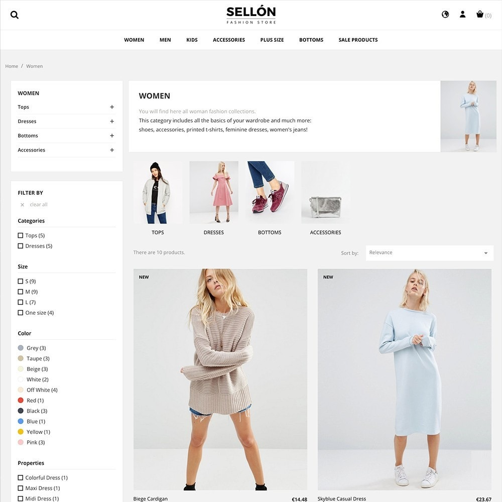 theme - Fashion & Shoes - SELLON - 3