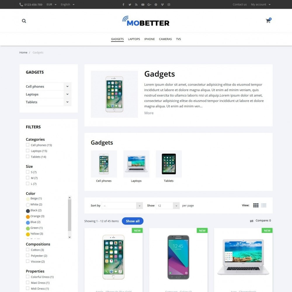 theme - Eletrônicos & High Tech - Mobetter - High-tech Shop - 5