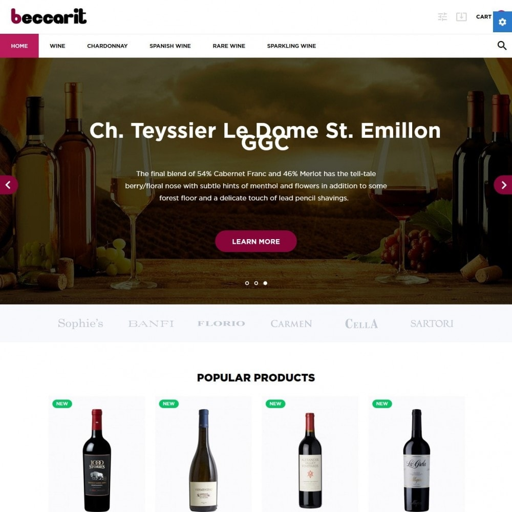 theme - Drink & Wine - Beccarit Shop - 2