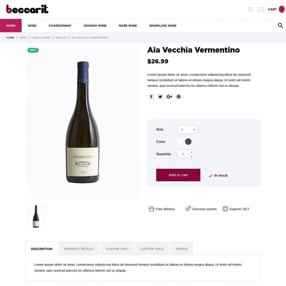 theme - Drink & Wine - Beccarit Shop - 6