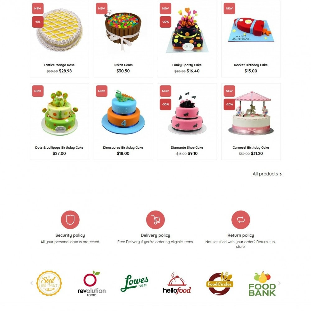 theme - Eten & Restaurant - BeautyCake - 3