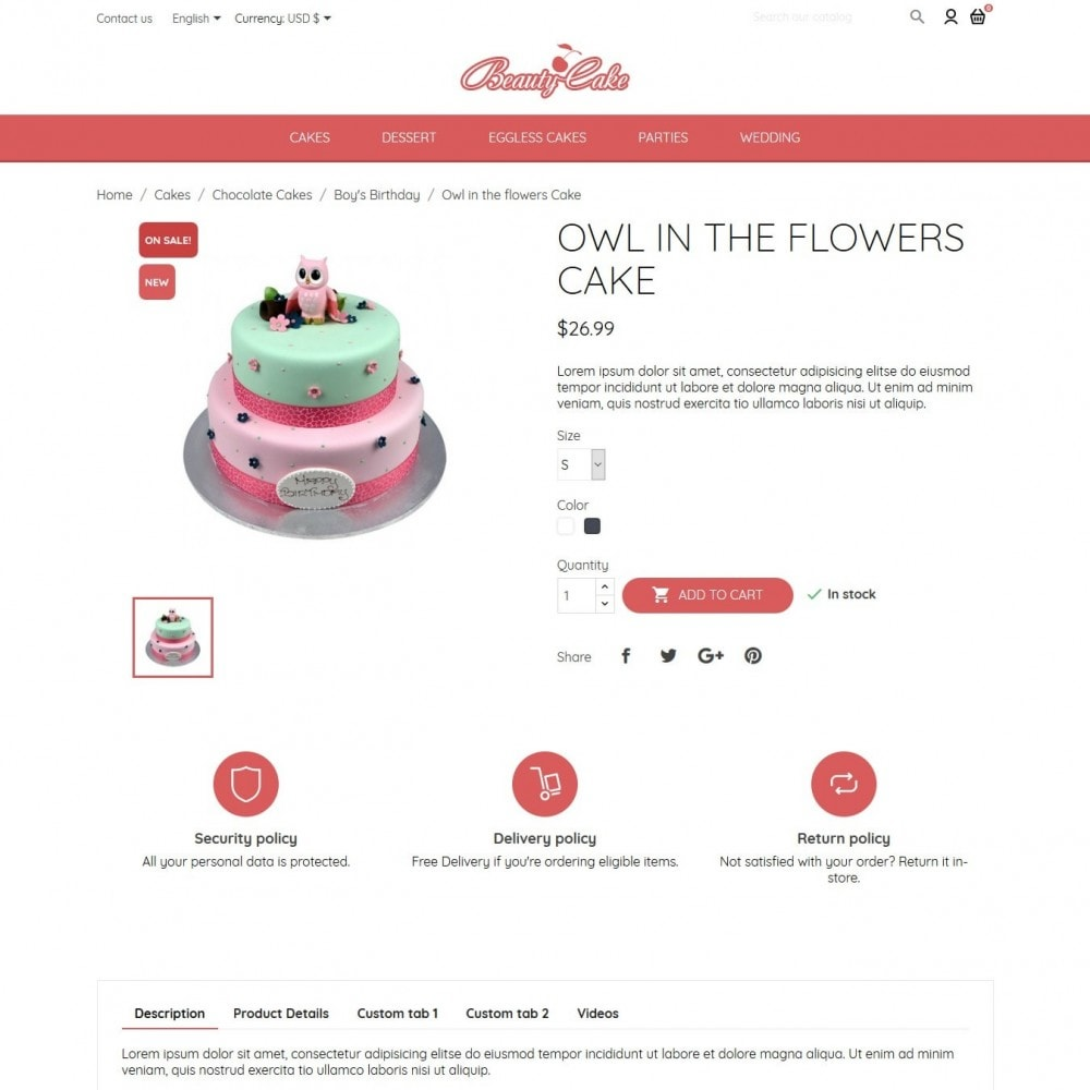 theme - Eten & Restaurant - BeautyCake - 6