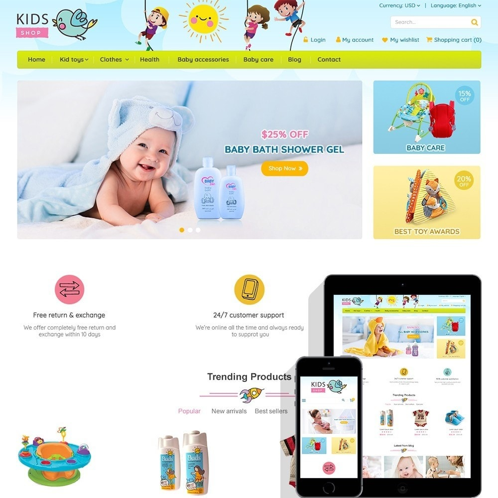 theme - Дети и Игрушки - Kids Shop - All in one package - 1