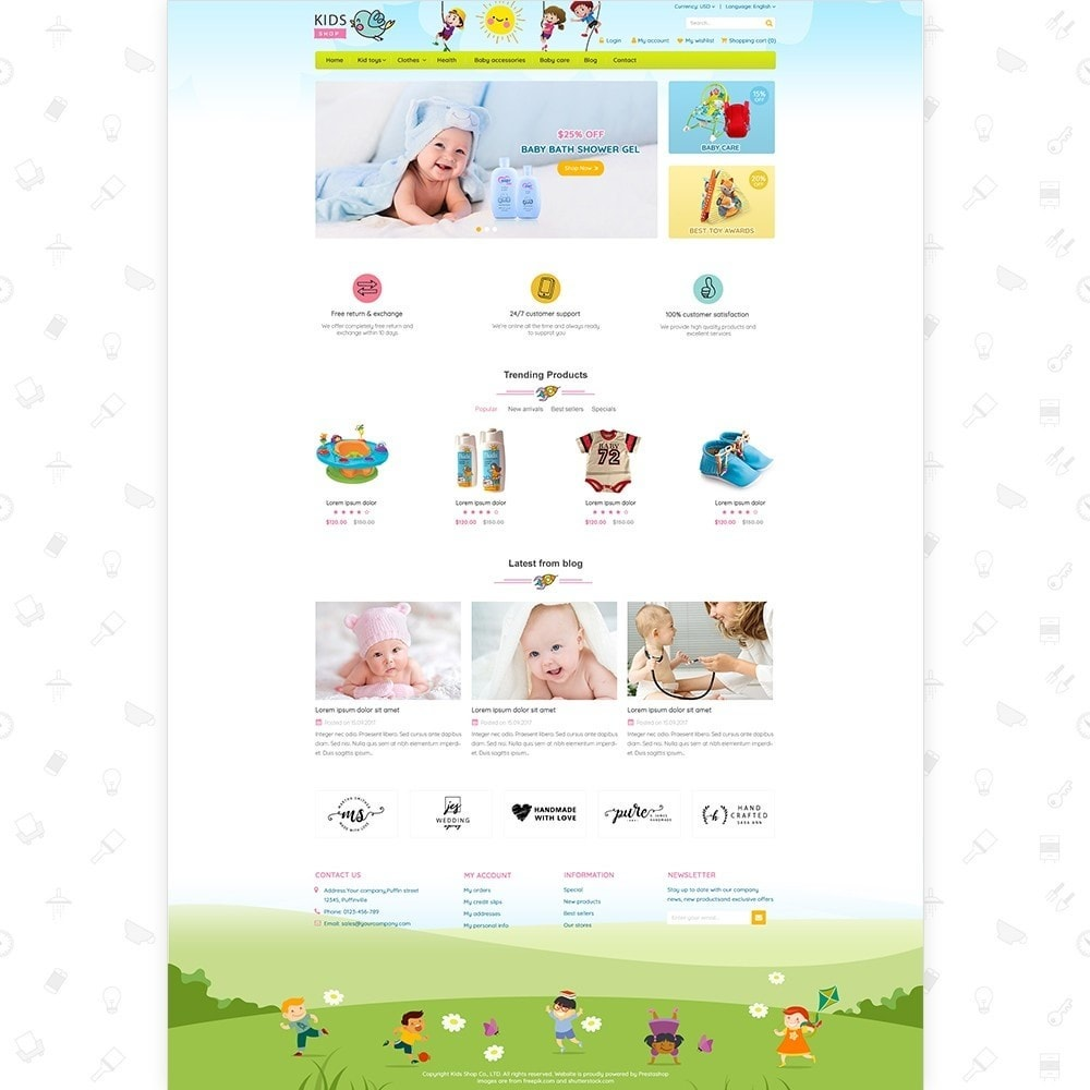 theme - Дети и Игрушки - Kids Shop - All in one package - 2