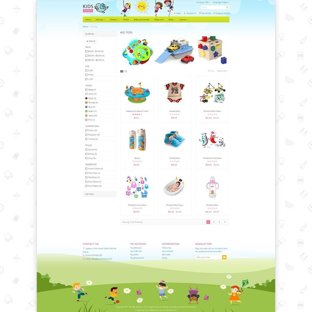 theme - Дети и Игрушки - Kids Shop - All in one package - 3