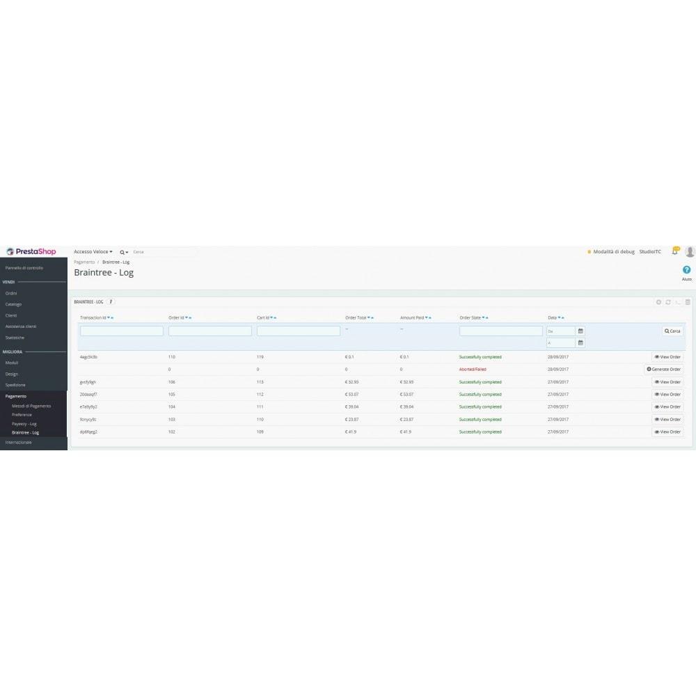 module - Pagamento con Carta di Credito o Wallet - Pagamento Braintree PayPal Company - 4