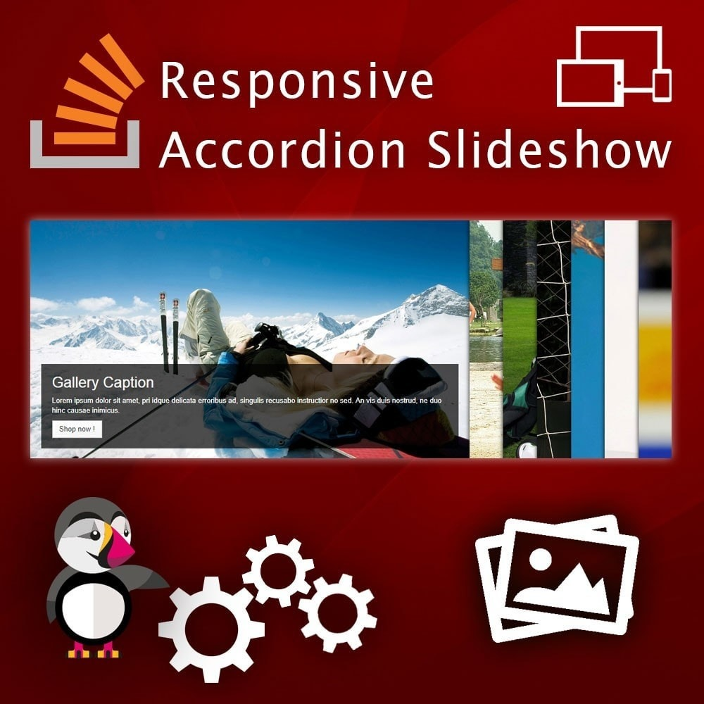 module - Slidery & Galerie - Responsive Accordion Slideshow - 1