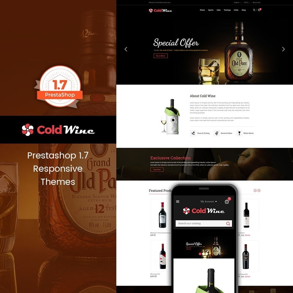 theme - Drink & Tobacco - Coldwine - Wine Store - 1