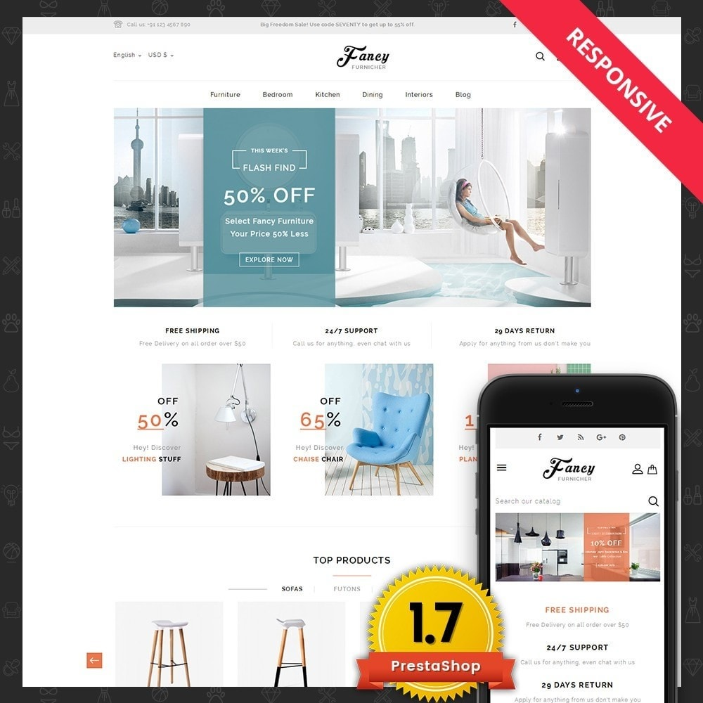 theme - Home & Garden - Fancy Furniture Online Store - 1