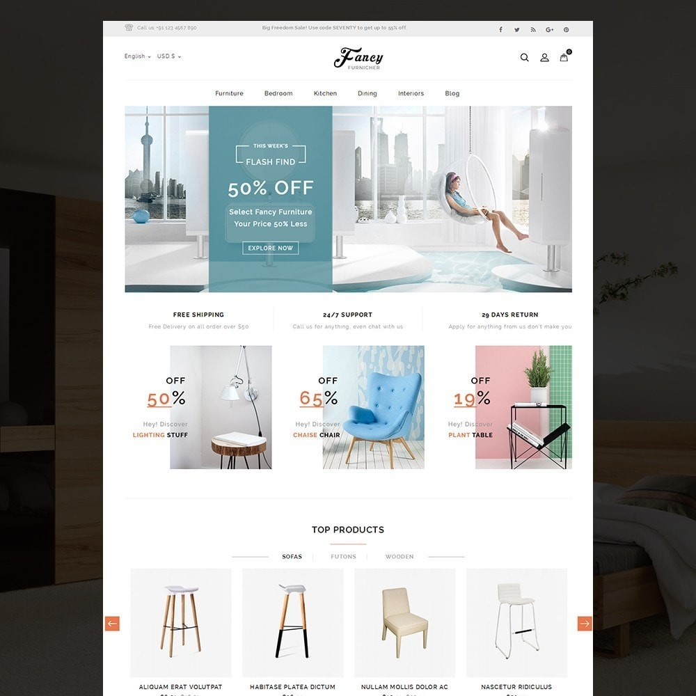 theme - Home & Garden - Fancy Furniture Online Store - 2