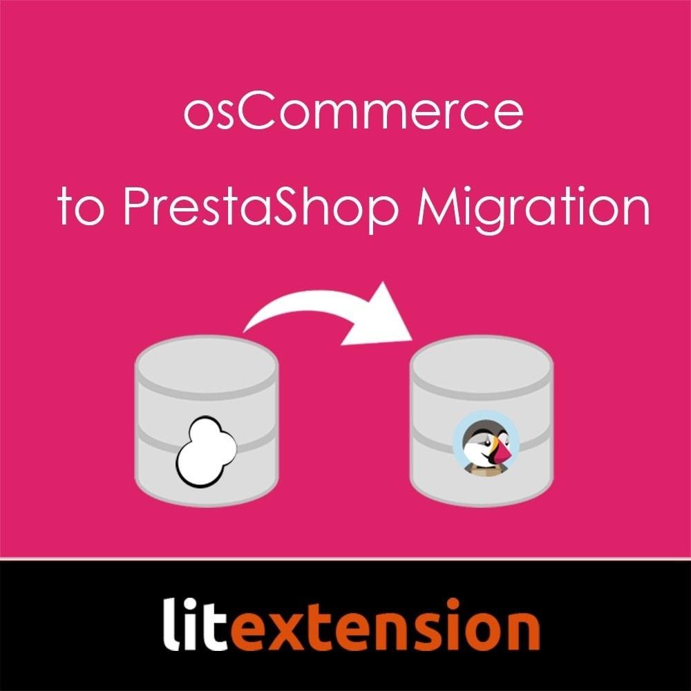 module - Migración y Copias de seguridad - LitExtension: osCommerce to Prestashop Migration - 1