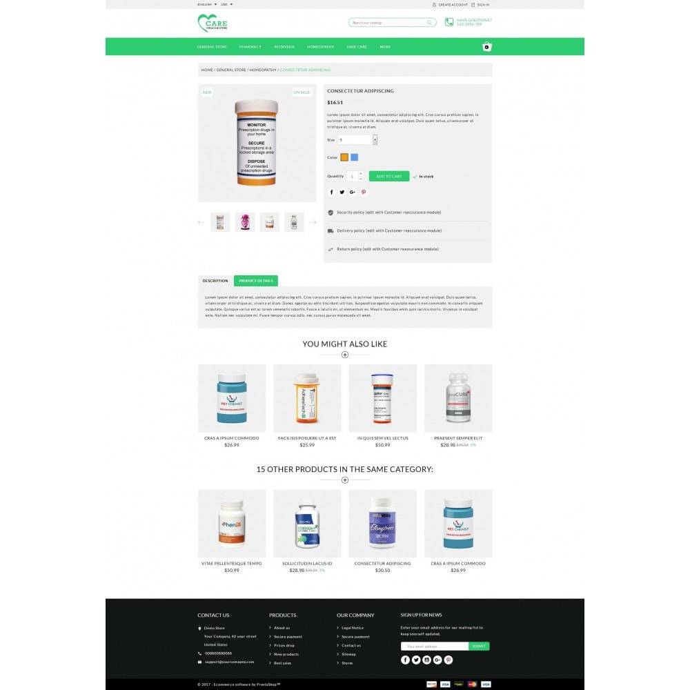 theme - Health & Beauty - Care - Medicine store - 5