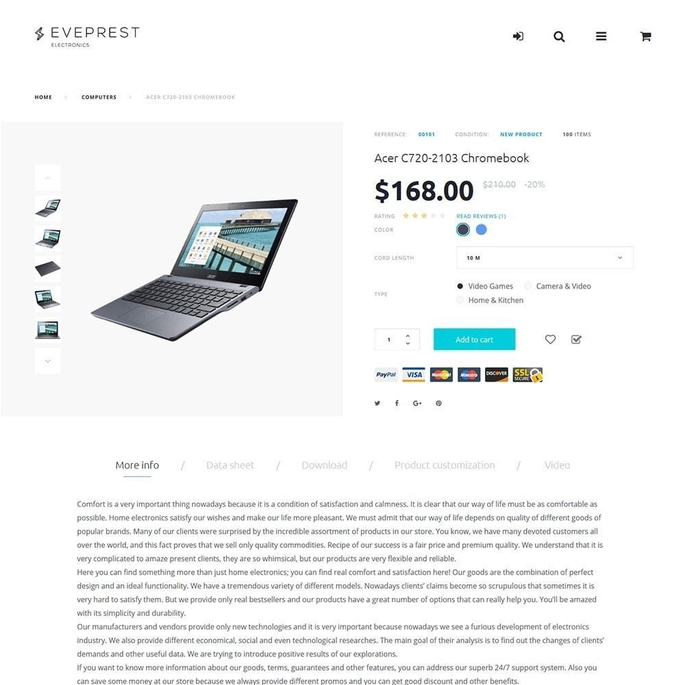 theme - Electrónica e High Tech - Eveprest -  para Sitio de Tienda de Electrónica - 7