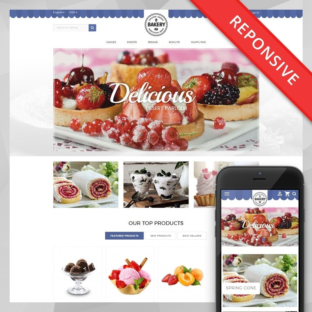 theme - Food & Restaurant - Online Bakery Store - 1