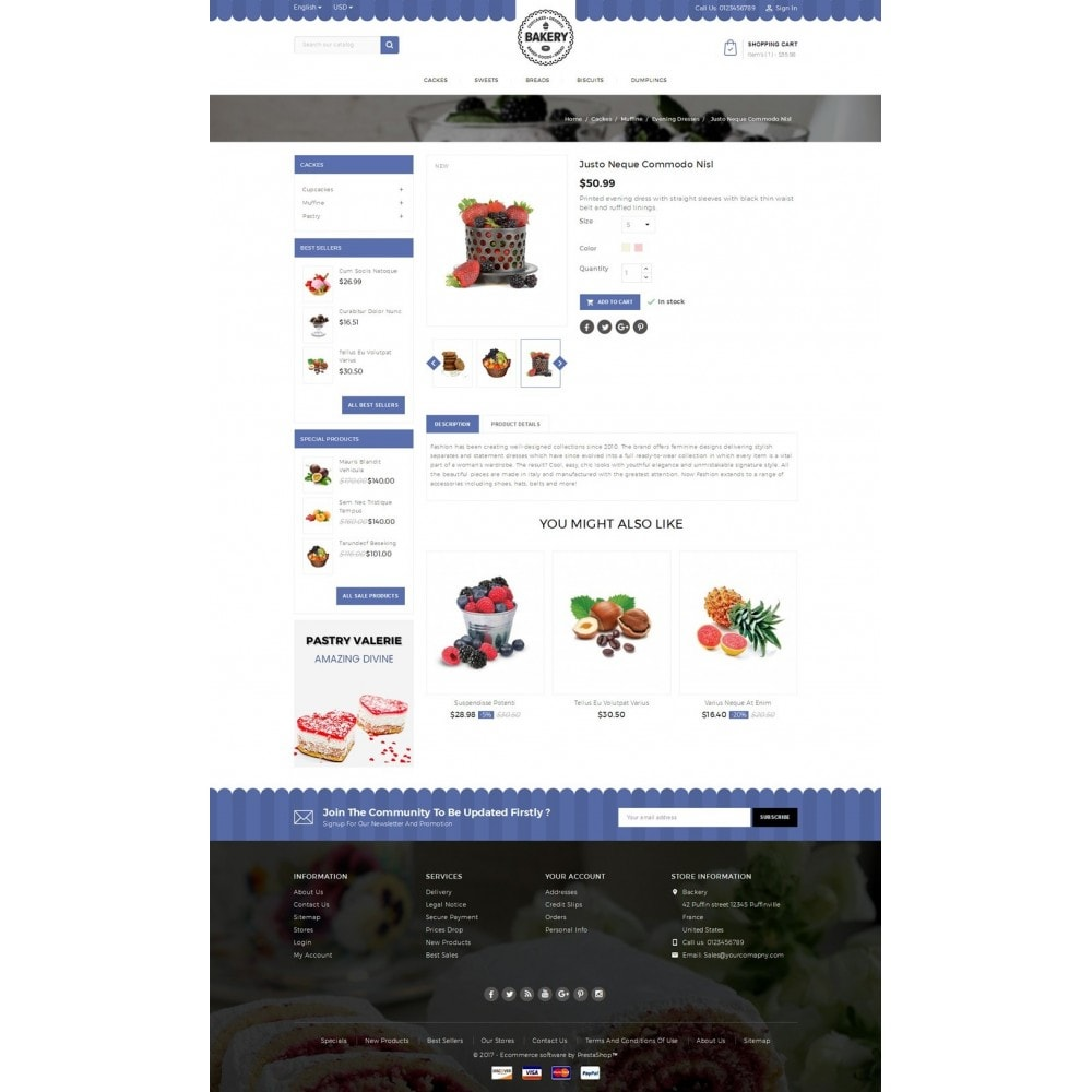 theme - Food & Restaurant - Online Bakery Store - 5