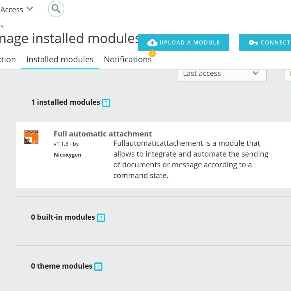 module - Email & Notifiche - FullAutomaticAttachment - automated document sending - 1
