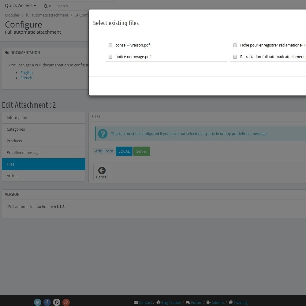 module - Email & Notifiche - FullAutomaticAttachment - automated document sending - 7
