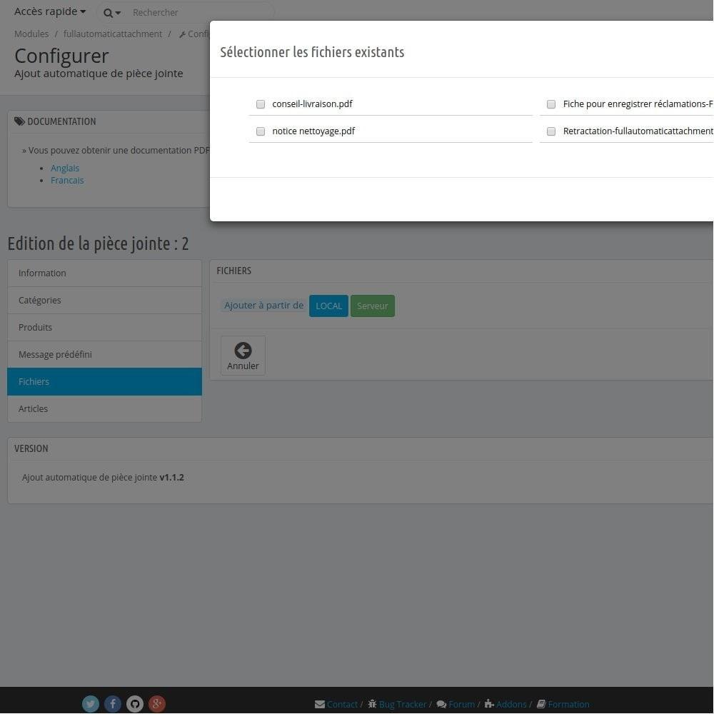 module - E-mails & Notifications - Fullautomaticattachment - Envoi de document automatisé - 12