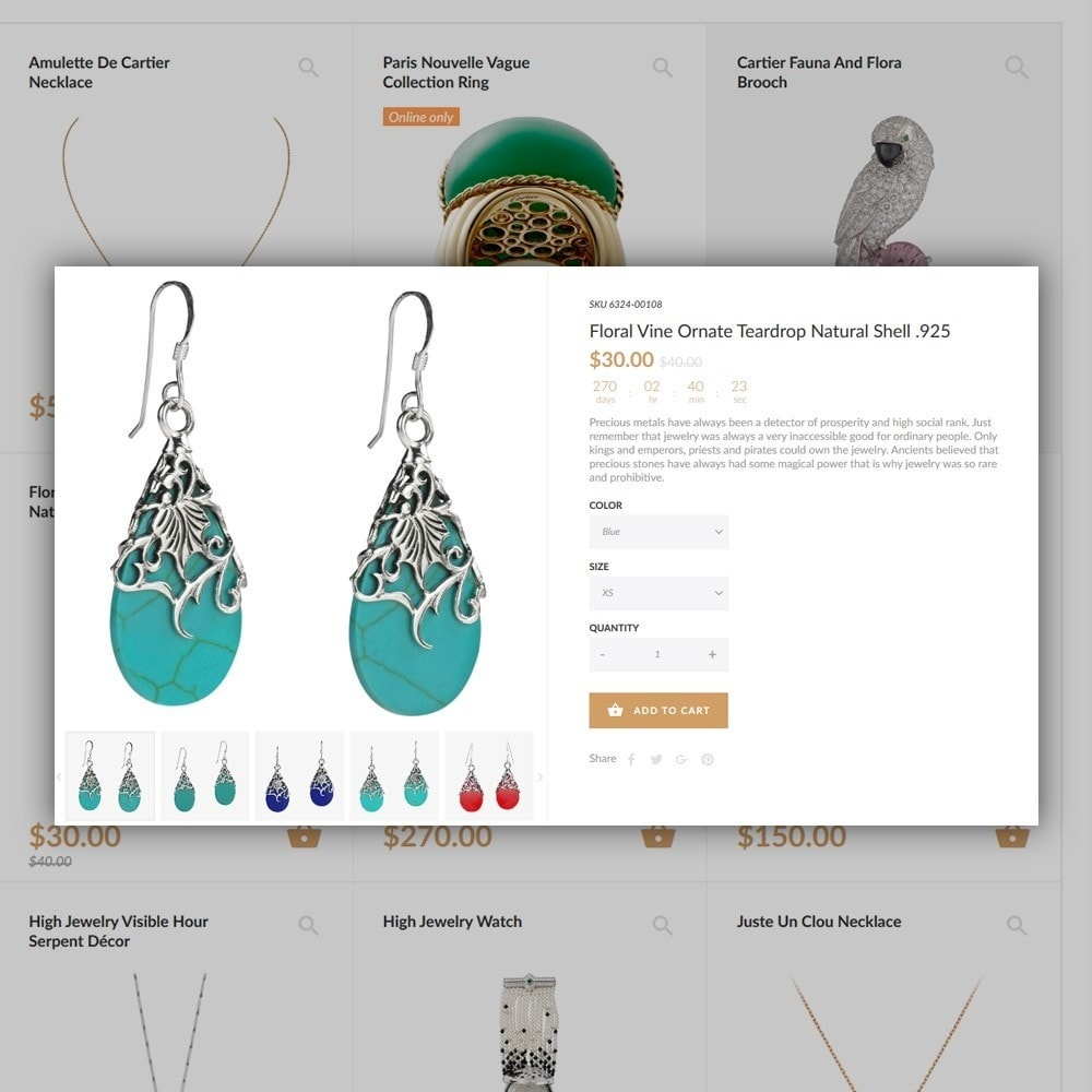 theme - Mode & Chaussures - Jewelrix - Bijoux et articles de beauté thème - 7