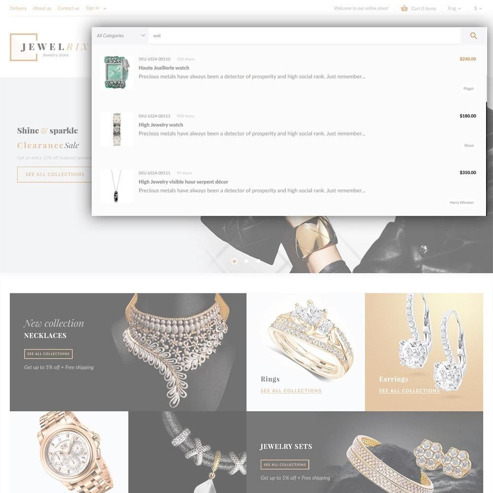 theme - Moda y Calzado - Jewelrix - Tema de para Sitio de Joyería - 6