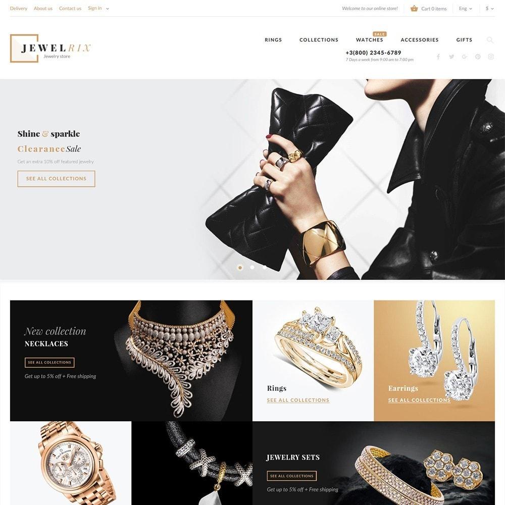 theme - Мода и обувь - Jewelrix - шаблон магазина драгоценностей - 3