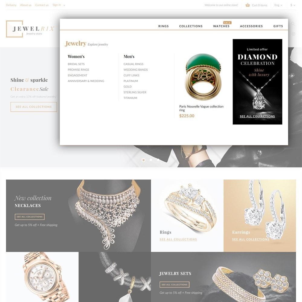 theme - Мода и обувь - Jewelrix - шаблон магазина драгоценностей - 4