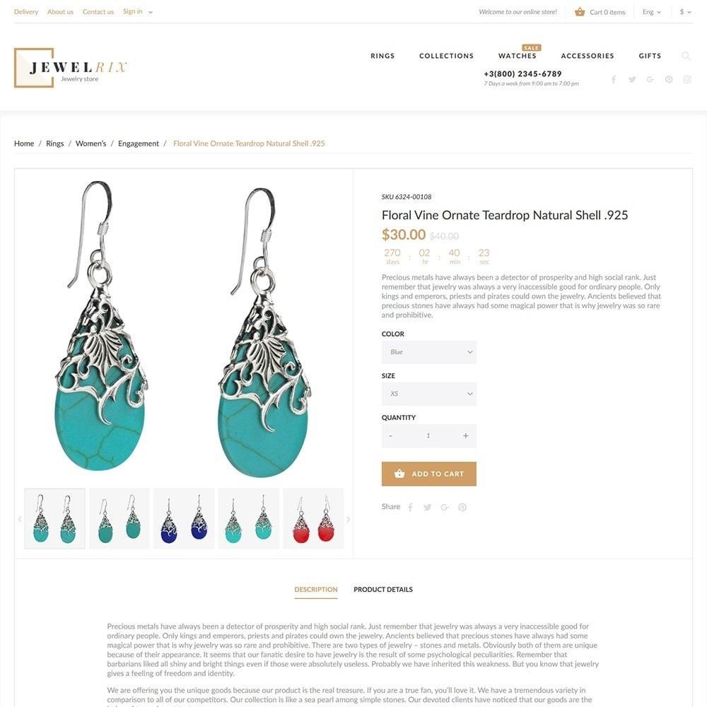 theme - Мода и обувь - Jewelrix - шаблон магазина драгоценностей - 5