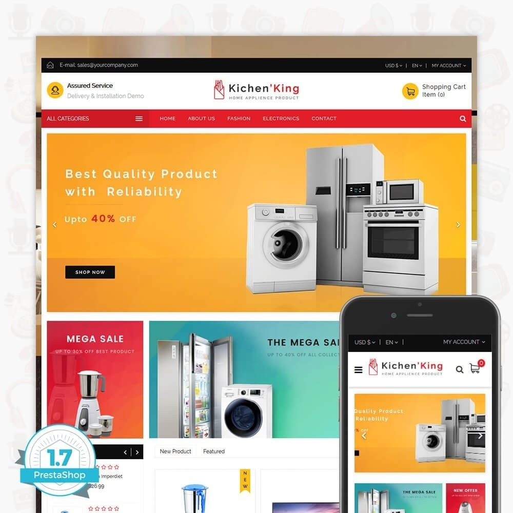 theme - Дом и сад - Kichen King - Home Appliance Product - 1