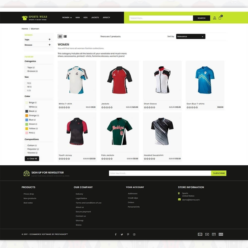 theme - Sport, Activiteiten & Reizen - Sports Wear - The Sports T-shirt store - 3