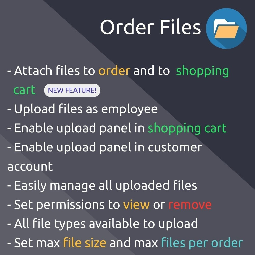 module - Registration & Ordering Process - Order Files upload and attach files to orders - 1
