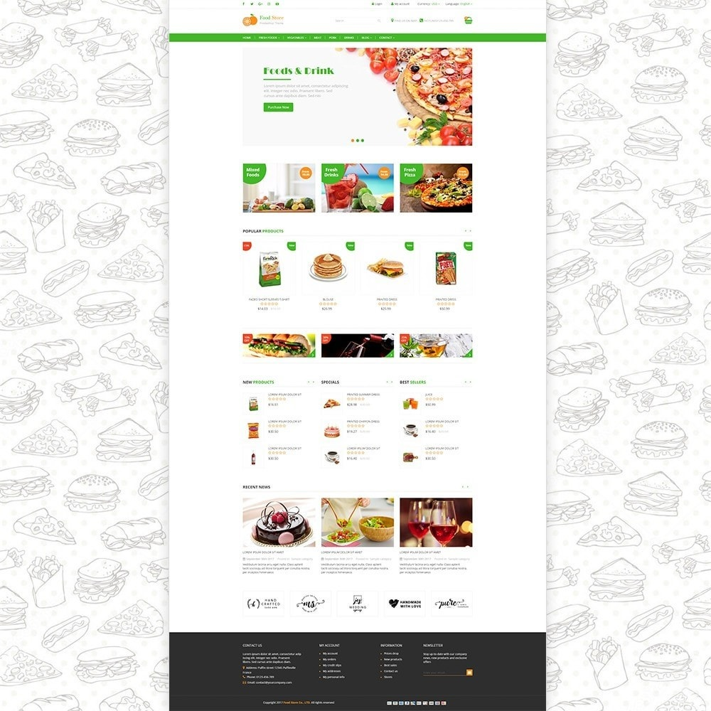 theme - Food & Restaurant - Food store - Fresh foods,  drinks and fruit store - 2