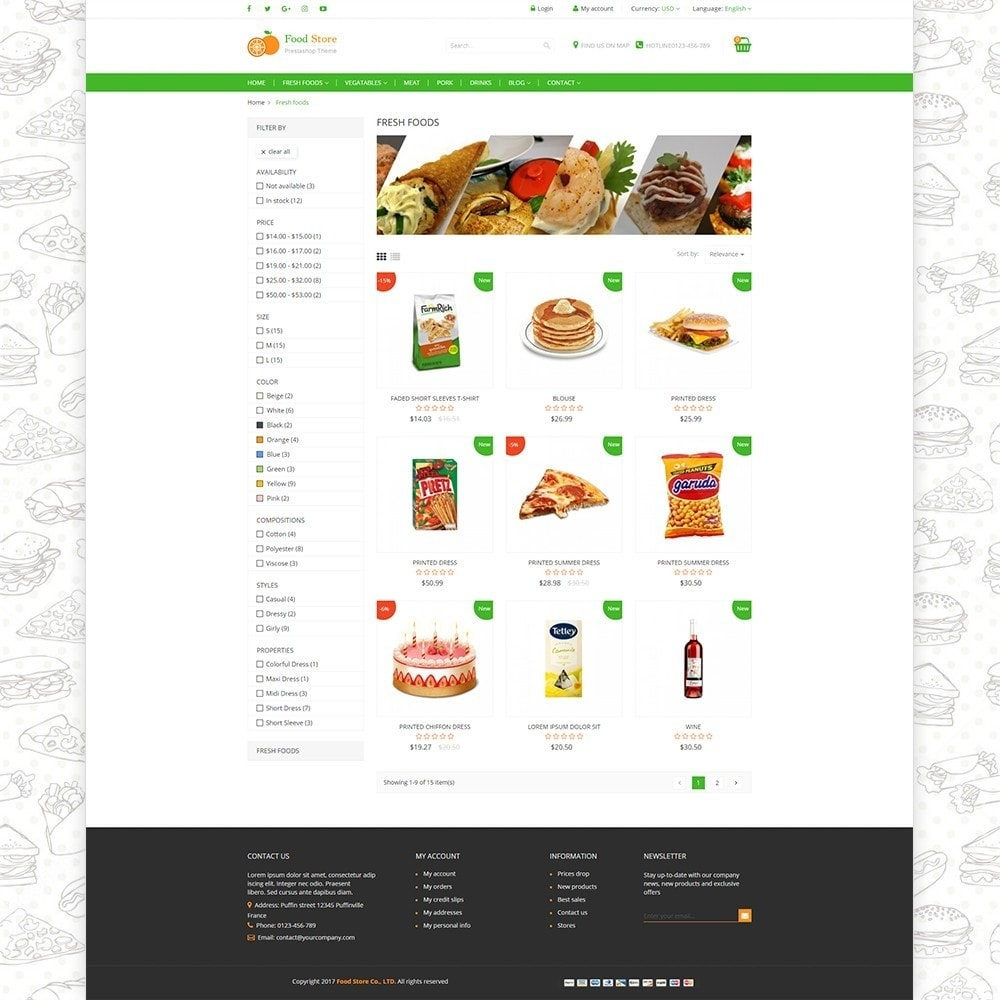 theme - Food & Restaurant - Food store - Fresh foods,  drinks and fruit store - 3